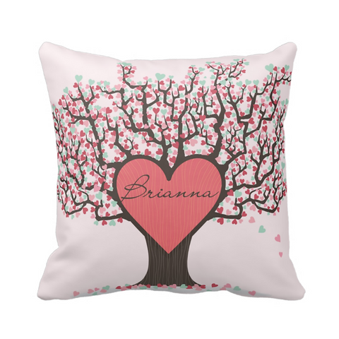 Love Tree Personalized Pillow