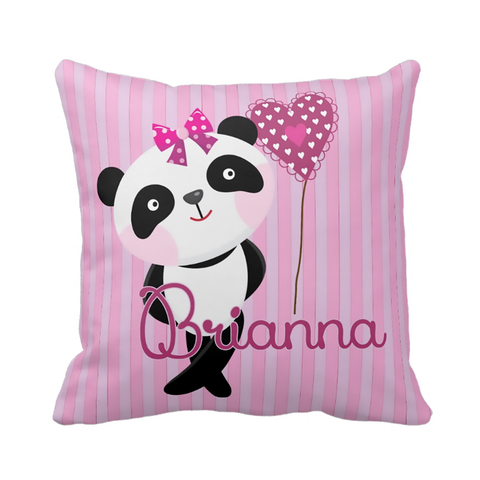Panda Girl Personalized Pillow