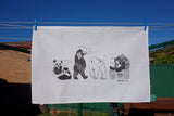 Bears with Beats Tea Towel