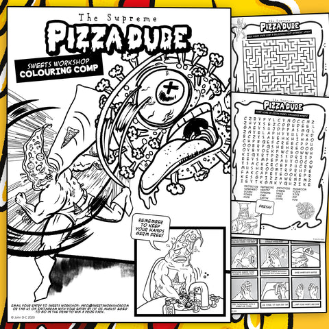 Pizza Dude FREE Colouring Activity Download!