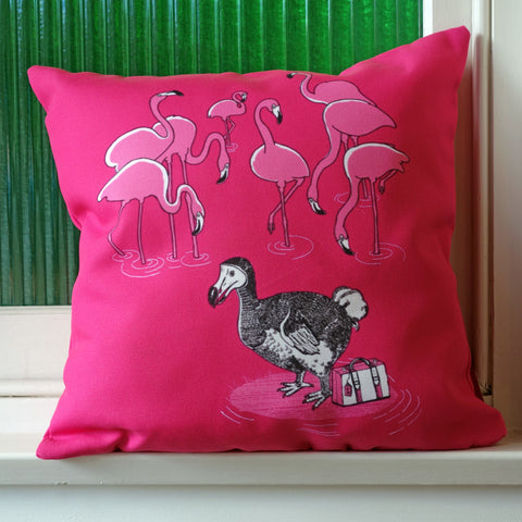 The Flamingos Celebrated Cushion Cover