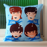 Fab Four Lads Cushion Cover