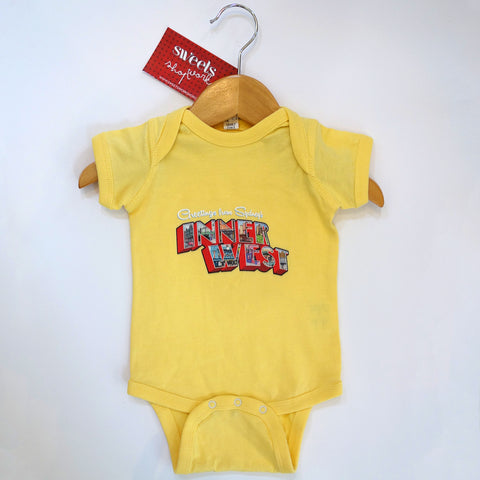Baby's Greetings from the Inner West Onsie Short Sleeve