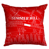 Summer Hill Map Cushion Cover
