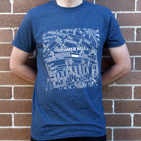 Men's Bin Summer Hill Map T-Shirt