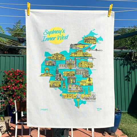 Sydney's Inner West Souvenir Tea Towel - Summer Edition