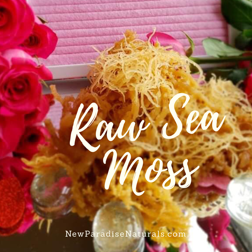 Raw Irish Sea Moss- Is a sea vegetable that grows of the coast of the Atlantic it contains 98 vitamins & minerals , a natural antimicrobial and antiviral agents, helping to boost immunity and get rid of any infections.