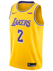 Custom Los Angeles Lakers Lonzo Ball Gold Icon Jersey
