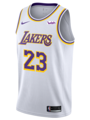 Custom Los Angeles Lakers Lebron James White Association Jersey