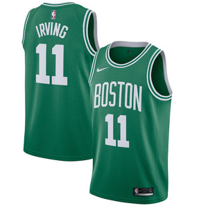Custom Boston Celtics Kyrie Irving Green Icon Jersey