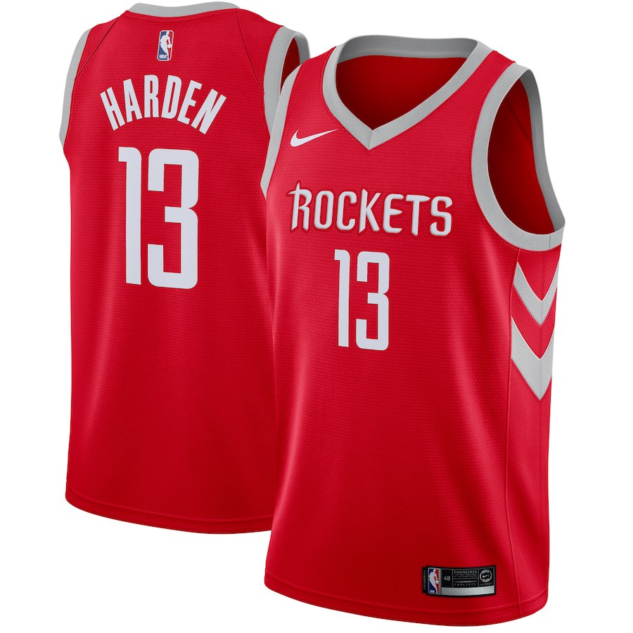 Custom Houston Rockets James Harden Red Icon Jersey