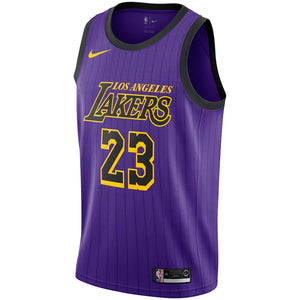 Custom Los Angeles Lakes Lebron James Purple Jersey