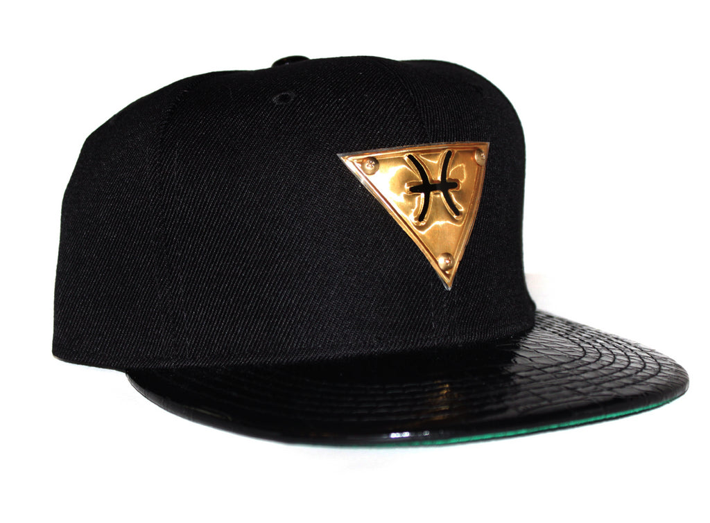 The 'Pisces' Gold Plate Snapback