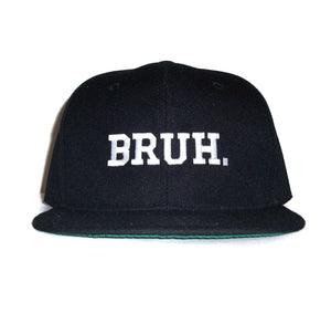 The 'Bruh.' Snapback in Black