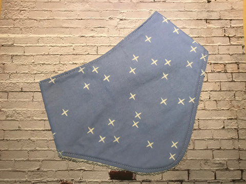 Bobby Stitch-Bandana bib, Powder