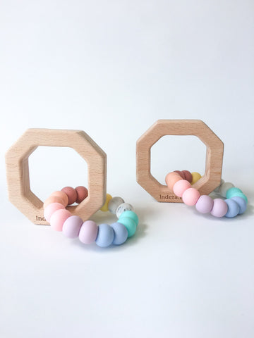 Rainbow Octagon Silicon Teether