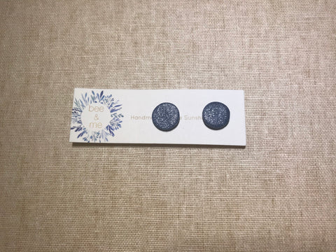 Polymer clay earrings-Midnight Glitter, bee & me