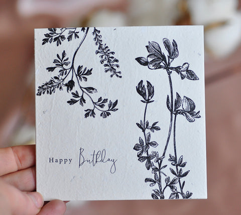 Flora Happy Birthday Gift Card