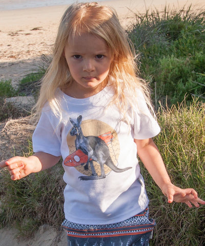 Red Kangaroo Childrens Tshirt