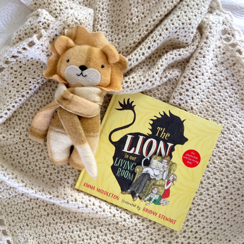 Lion Book and Handmade Soft Toy