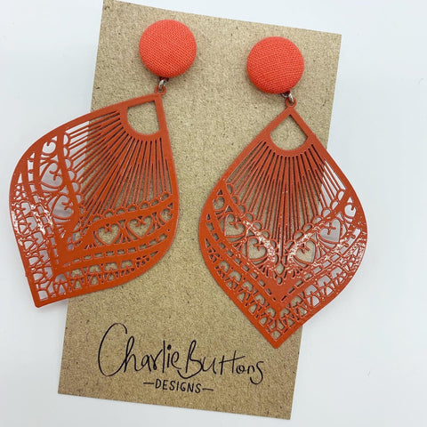 Coral Detailed Dangle