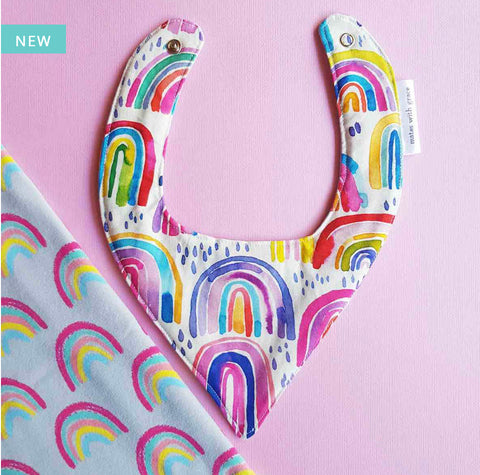 Water-colour Rainbow Bandana Bib