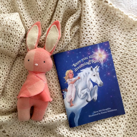 Ruby Book and Bunny Soft Toy
