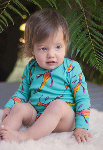 Weedy Long Sleeve Onesie