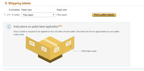 amazon less than truckload ltl fba shipment pallet labels