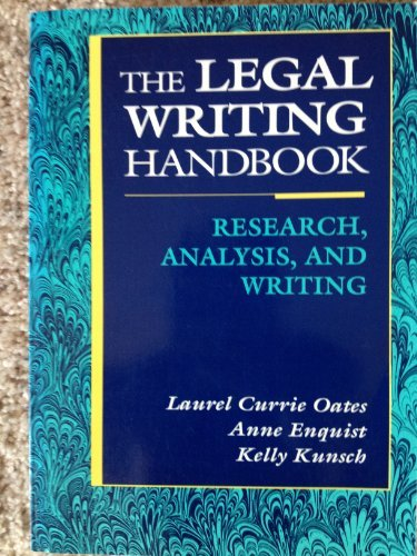 Legal Writing Handbook: Research Analysis and Writing