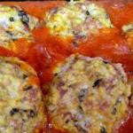 Chicken Meatballs with Plum Tomato Sauce