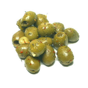 Spiced Pitted Sicilian Green Olives