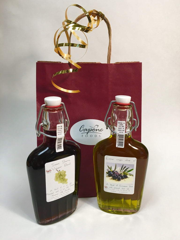 Capone Oil and Sherry Vinegar Flask Set