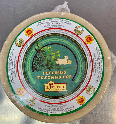 Pecorino Toscano, Medium. WHOLE WHEEL