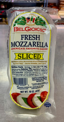 Sliced fresh Mozzarella - Belgioiso