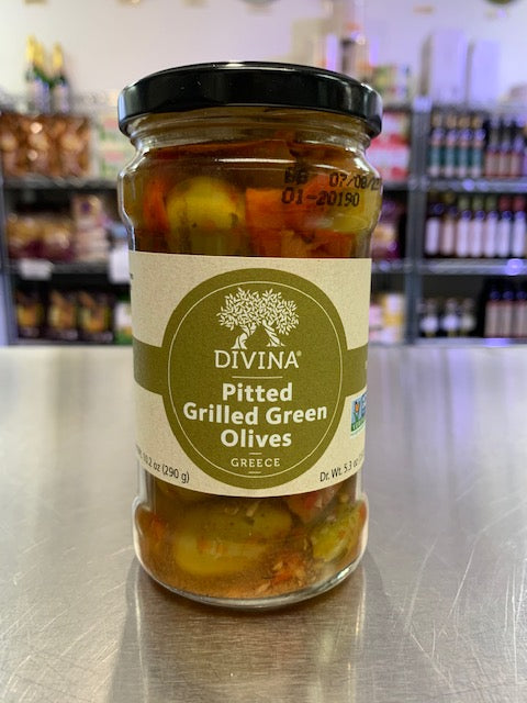 Pitted Grilled Green Olives - Davina
