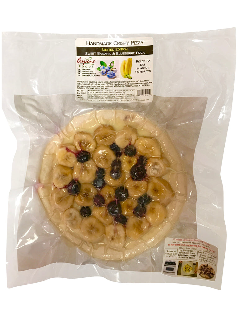 HANDMADE CRISPY PIZZA Sweet Blueberry and Banana in package