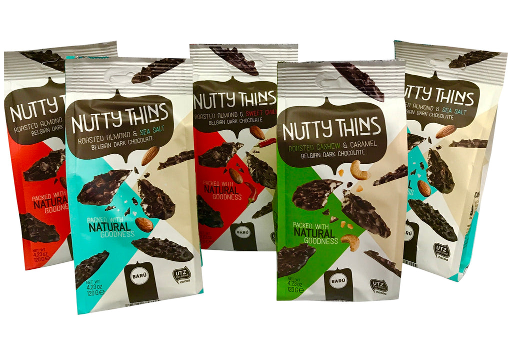 Nutty Thins Dark Chocolates from Belgium