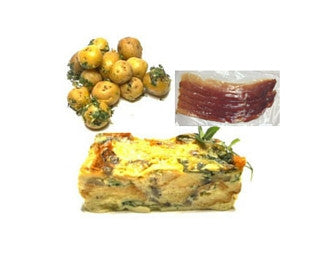 Spinach & Mushroom Strata Brunch Quick Meal Serves 3-4