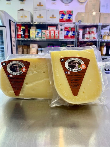 Aged Farmstead Gouda from Smith's Cheese in Winchendon, MA