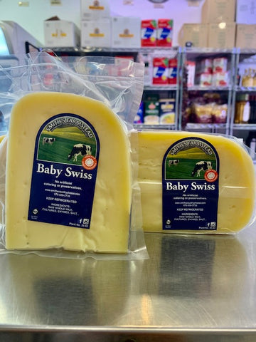 Baby Swiss from Smith's Cheese in Winchendon, MA