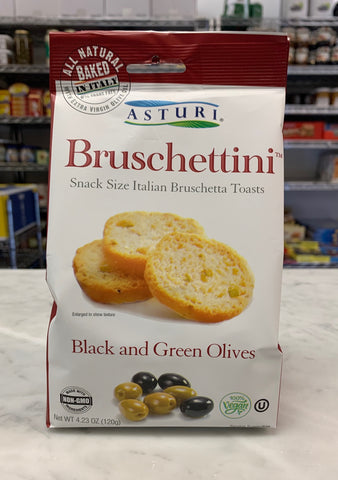 Bruschettini Classic Balck and Green Olive  Toasts