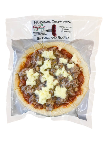 Fresh Sausage and Ricotta pizza in package
