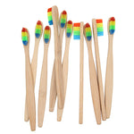 Colorful Head Bamboo Toothbrush Oral Care Soft Bristle