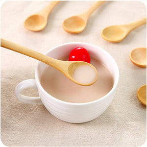 10 PCs Kitchen Cooking Wooden Spoon