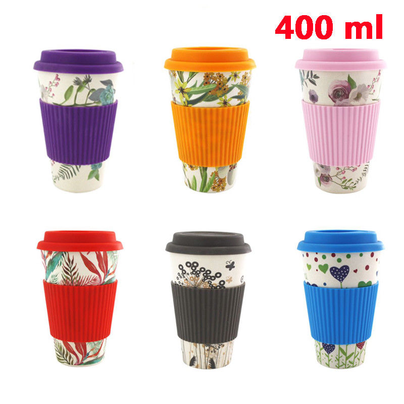 400 ml Reusable Bamboo Fibre Coffee Cups