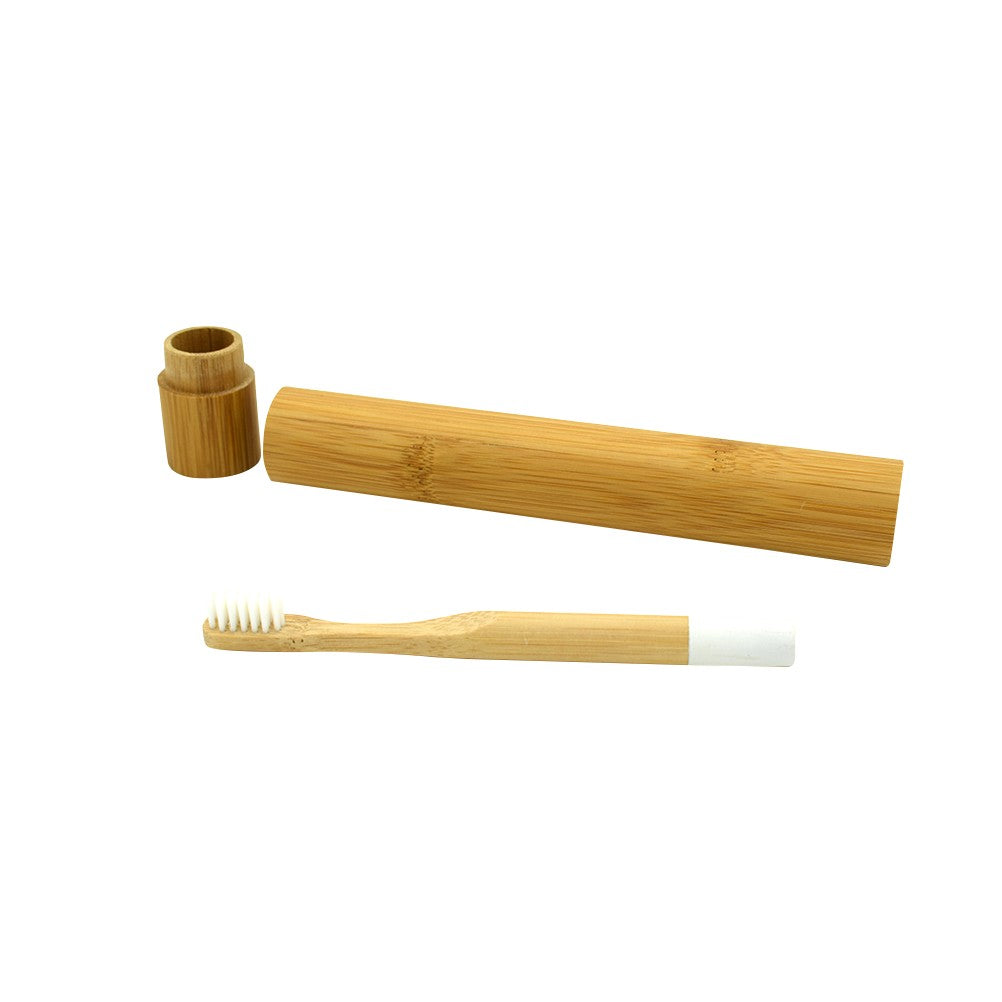 Natural Bamboo Toothbrush with Bamboo Storage Tube