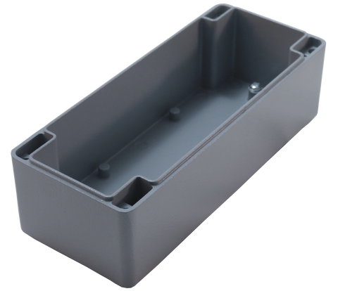 IP67 Aluminum Project Box with Base Plate | 172mm x 70mm x 55mm V.2