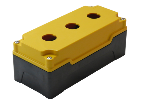 22mm Yellow Push Button Box 3 Station