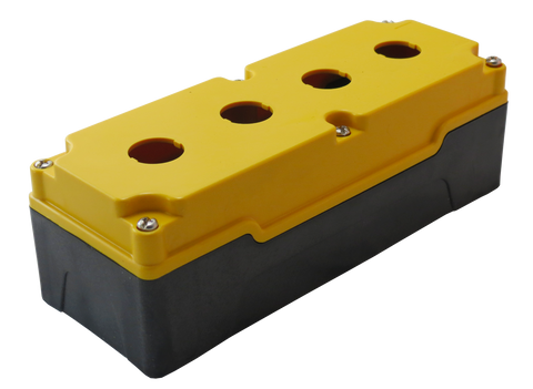 22mm Yellow Push Button Box 4 Station
